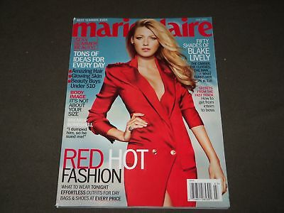 2012 JULY MARIE CLAIRE MAGAZINE - BLAKE LIVELY COVER - FASHION - O 9381