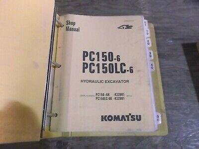 Komatsu Pc150-6 Pc150lc-6 Hydraulic Crawler Excavator Shop Service Repair Manual