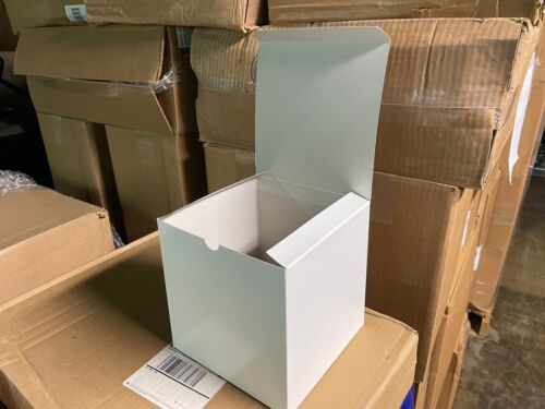 """7"""" x 7"""" x 7""""  White Merchandise Retail Packaging Chipboard Gift Boxes 100 Pc"""