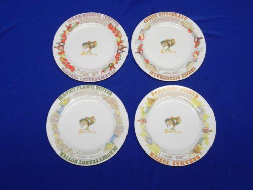 Vintage Brennan's Restaurant LJUNGBERG Menu Dessert Plates New Orleans Set Of 4