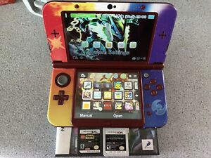 3DS xl Pokémon sun and moon with 4 games