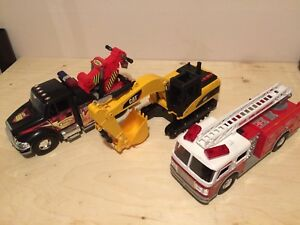 Tonka firetruck tow truck excavator toy camion pompier