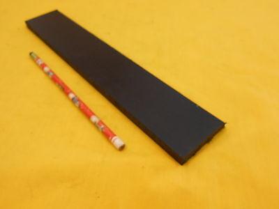 "3/8"" x 2"" x 12"" BLACK NYLON FLAT STOCK - plastic sheet bar"