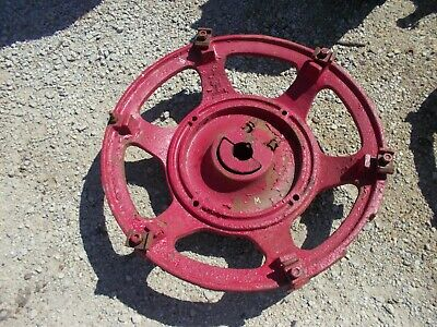 1 Farmall M Ih Tractor Rear Center Wheel Hub Complete With Mounting Buckles