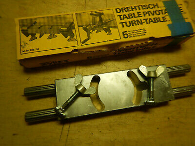 Vintage Zyliss Swiss Made Bench Vise Turn Table Plate In Box