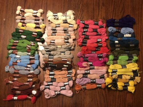 DMC Colbert, Floralia Tapestry Wool Yarn Laine 86 Skein Lot Assorted Colors - $42.99