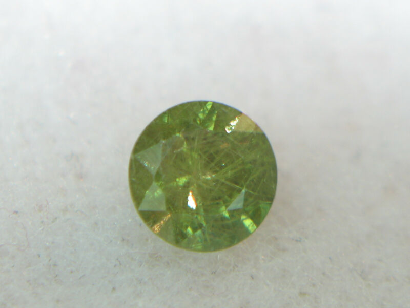 1.12CT STUNNING UNTREATED RUSSIAN ANDRADITE DEMANTOID GARNET WITH HORSTAIL INCL