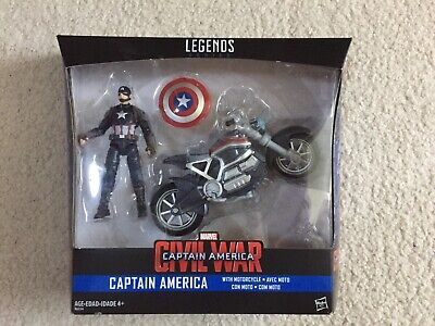 Marvel Legends Captain America with Motorcycle Civil War 3.75
