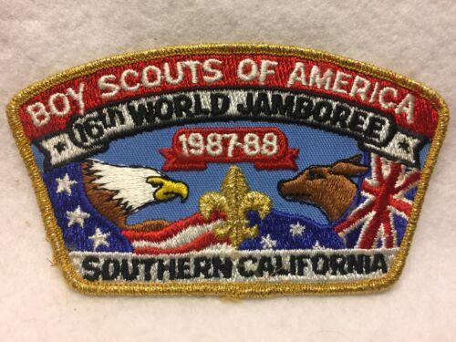 (mr7) Boy Scouts - 16th World Jamboree jsp - Southern California gold mylar trim