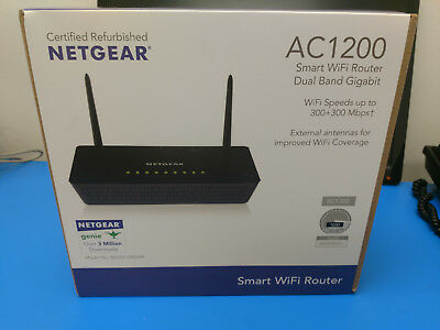 Netgear R6220-100NAR AC1200 Smart WiFi Router Dual Band Gigabit