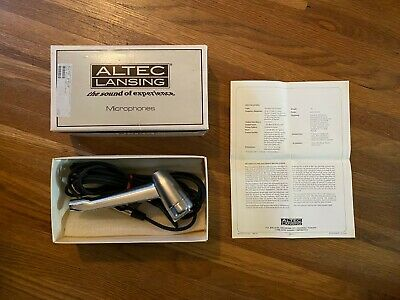 Vintage Altec D90P Dynamic Omnidirectional Microphone + Box. Tested Sounds Great