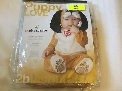 PUPPY LOVE INFANT COSTUME Toddler Kids Child Animal Halloween Mascot 12-18M
