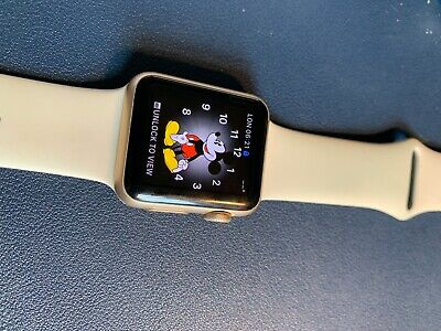 Apple Watch Series 1 38mm Rose Gold Aluminium Case with 3 bands - used but good