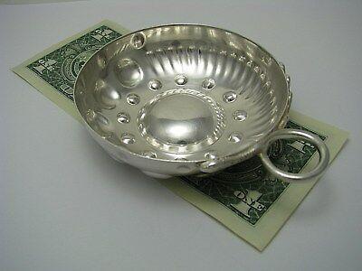 SILVER PLATED WINE TASTER TESTER TASTEVIN by Olier & Caron France 1910-1934 Rare