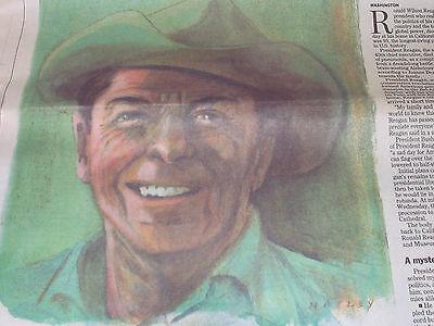 Ronald Reagan 1911 2004 Richmond  Va  Times Dispatch 6 6 04 40Th President Dies