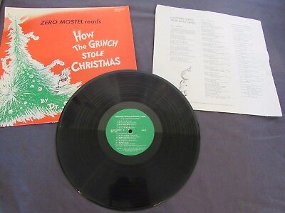 Zero Mostel How the Grinch Stole Christmas Dr Seuss Christmas Songs Many Lands ()