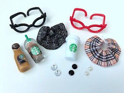 ❤️ Littlest Pet Shop *10 PC Starbucks Glasses Clothes Lot* LPS Accessories  - Nerd Clothes