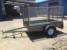 8X5, HEAVY DUTY, TRAILER, HIGH CAGE, RAMP, MOWING, GARDENING, TRA Thorneside Redland Area Preview