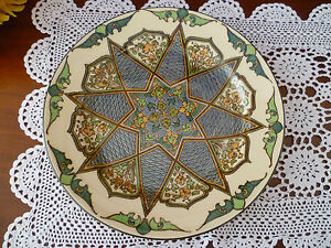 ROYAL DOULTON  GEOMETRIC PATTERN CABINET PLATE 260 MM IN GOOD CONDITION