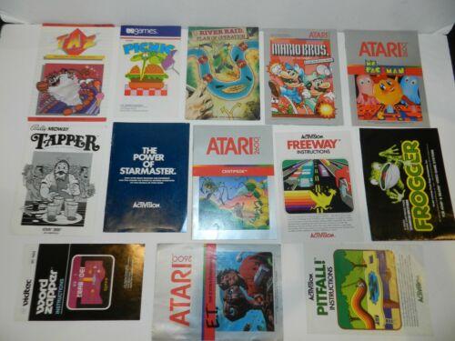 Atari 2600 Game Manual Booklet Instructions You Pick & Choose Video Games Lot