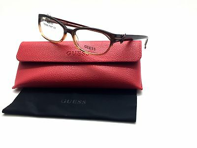 5a33af32426e GUESS Brown Gradient GU2304 BRN Women s Plastic Eyeglasses Frames 53-16-135