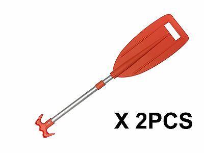 "Pactrade Marine 2PCS Boat Kayak Raft Aluminum Telescopic Paddle w/ Hook 32""-42"""
