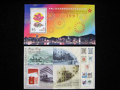 Hong Kong  -  1997 Return to China Souvenir Stamp Sheetlets -  MNH