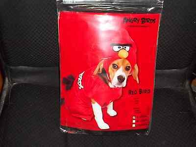 DS RED BIRD DOG COSTUME Size Small Silly Puppy Suit Hood (Angry Bird Dog)