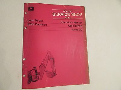 John Deere Om-t33823 Backhoe 9250 Manual Dealer Copy