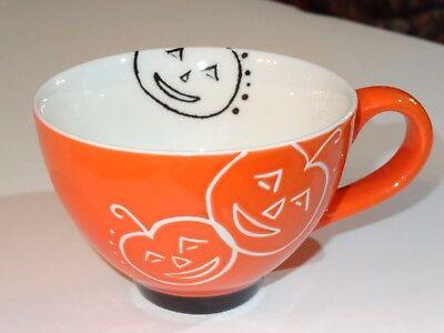 Starbucks Halloween Coffee Mug Cup 10 oz Orange Pumpkins - Halloween Coffee Mugs Starbucks
