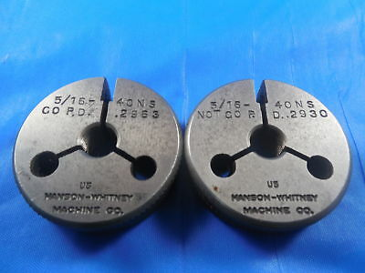 516 40 Ns Thread Ring Gages .3125 Go No Go P.d.s .2963 .2930 516-40 Tool