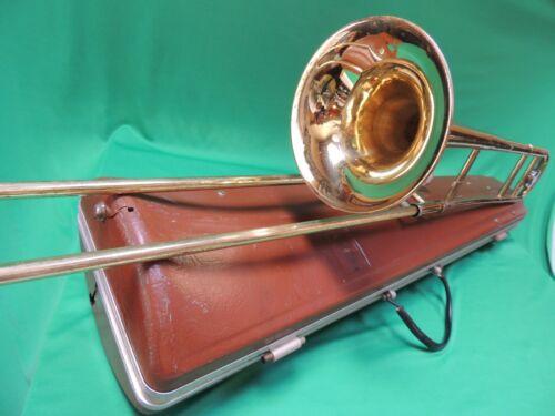 Nice Vintage OLDS 🎵 AMBASSADOR Trombone Refurbished Natural Brass SN 484642