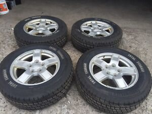17 inch original jeep rims with tires