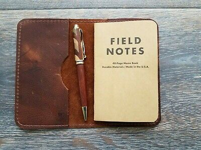 Kodiak Leather Field Notes Journal Cover. Handmade In Usa