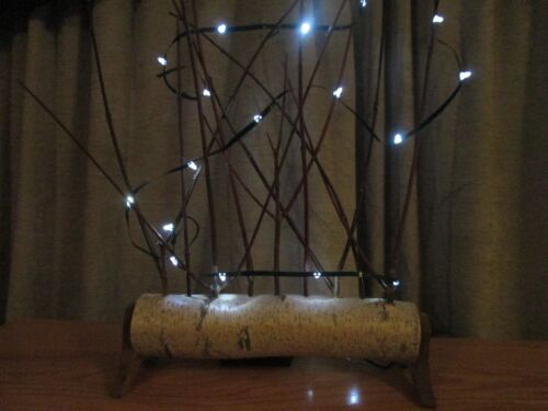 Lighted Birch Log Christmas Ornament