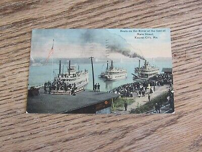 Used Posted Aug 26, 1911, Boats on the River, Kansas City, MO Postcard (FC) for sale  Aurora