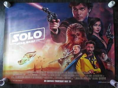 SOLO, A STAR WARS STORY, ORIGINAL UK QUAD MOVIE POSTER 2018 DOUBLE-SIDED POSTER