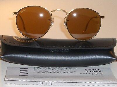 46MM VINTAGE B&L Ray-Ban B15 Braun Fahren Arista Rund Pilotenbrille Neu (Ray-ban Sonnenbrille Fahren)