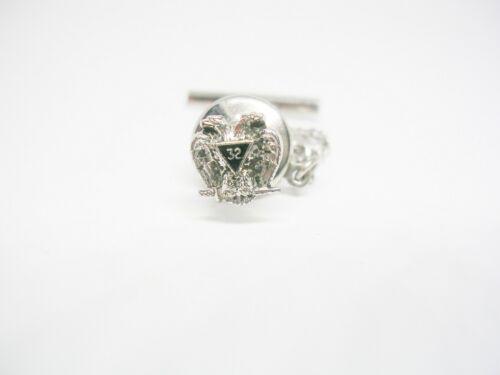 Vintage Freemason Tie Tack Scottish Rite 32 Degree Mason Jewelry Formal Wear