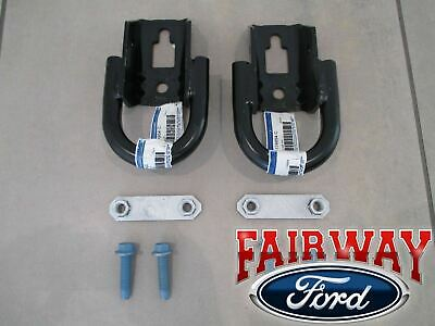 09 thru 20 F-150 OEM Ford Parts Black Tow Hook Set PAIR w/ Hardware FRONT