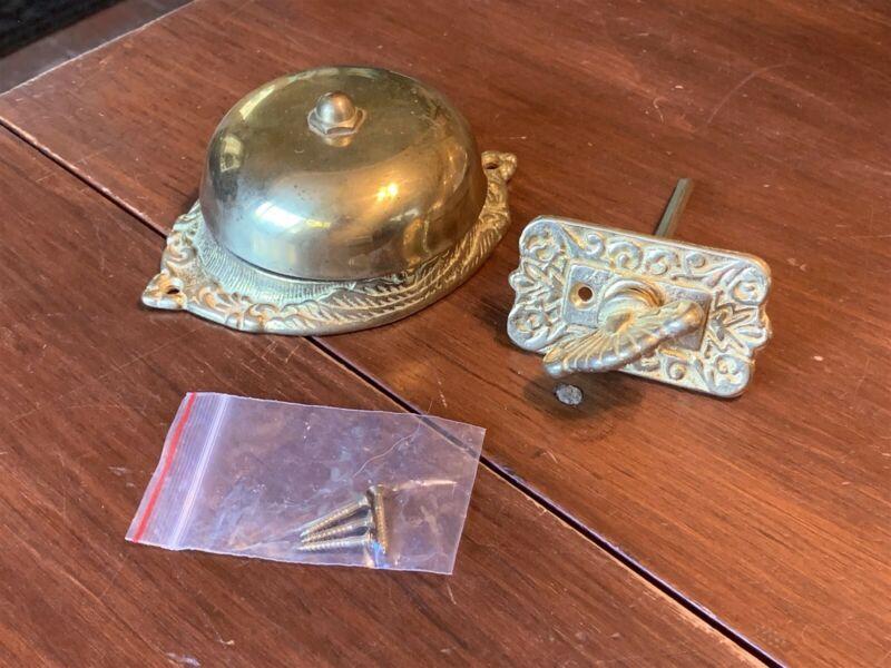 NOS Vintage Solid Brass Turn-Style Door Knob