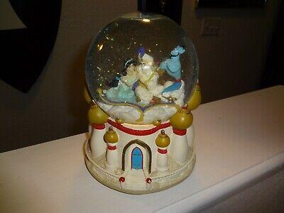 1992 Disney ALADDIN Snowglobe Globe Retired Rare Discontinued Music Box Genie