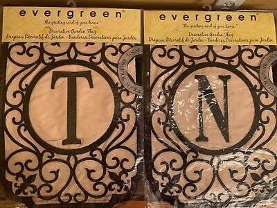 Initial Garden Flags (Garden Flags with Initial by)