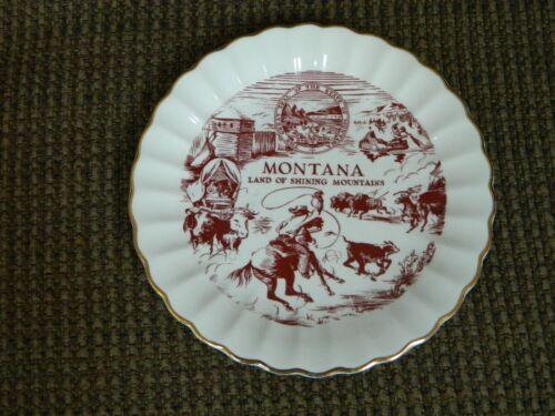 Vintage Souvenir Montana Land of Shining Mountains Plate