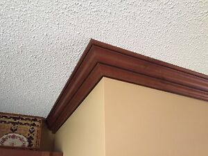 Walnut crown  mouldings and trim