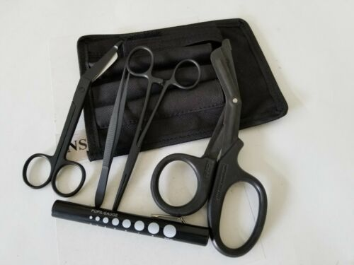 NEW Shears; EMT/Scissors combo pack w/holster -Tactical All Black