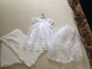 Girls christening gown and blanket (6 months)
