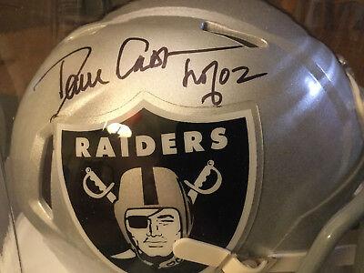 Dave Casper Tri-Star Autographed Football SPEED Mini Helmet Oakland Raiders COA