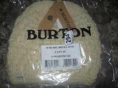 Burton Wms Big Brtha Bnie Canvas 1SZ brand new with tags