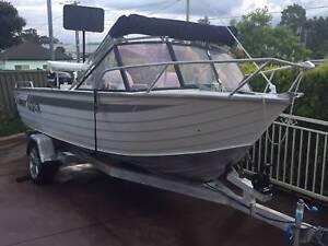 Quintrex 6 Person Aluminium Boat and Aluminium Trailer